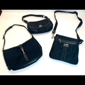 Lot of 3 Coach purses